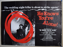 He Knows You're Alone Horror Poster - UK Quad